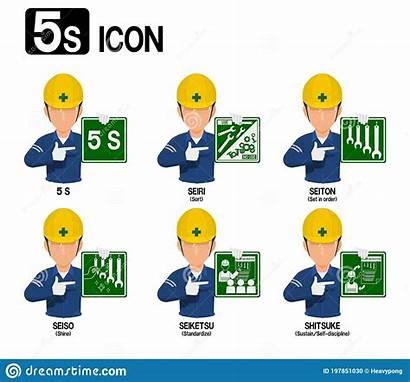 5s Cartoons Industrial Vector