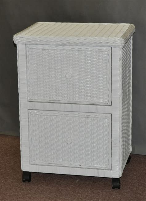 hampton bay wicker file cabinet  drawers wicker country