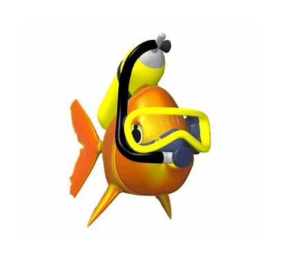 Fish Animated Swimming Moving Animations Clip Scuba
