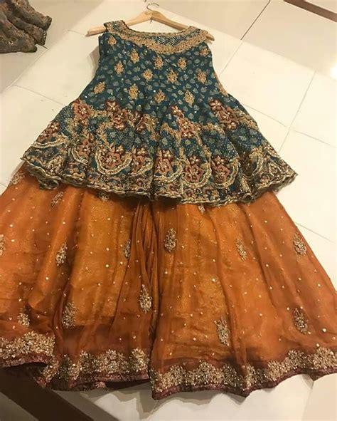 beautiful mehndi outfit sharara designs pakistani dress