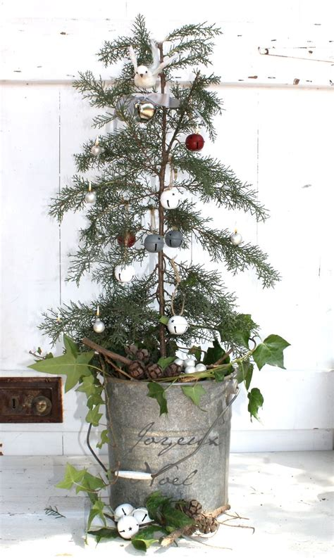 very natural tree galvanized bucket with writing