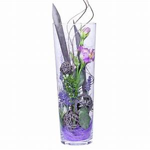 Große Deko Vasen : deko vase lisianthus lila 40cm versandkostenfrei online bestellen bei lidl blumen ~ Markanthonyermac.com Haus und Dekorationen