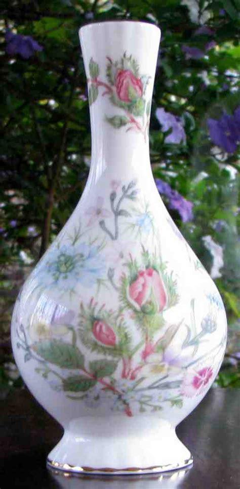 english porcelain aynsley bud vase wild tudor floral