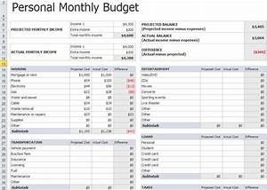 personal monthly budget template in excel With templates for budgets monthly
