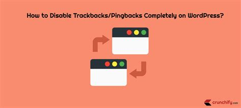 How To Disable Trackbacks And Pingbacks Completely On
