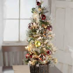 decorated pre lit tabletop artificial tree table shelf decorations and