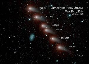 Space Images | Infrared View of a Comet and Distant Galaxy