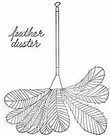 Duster Feather Clipart Simple Cliparts Lois Library Ehlert Objects Line Clipground sketch template