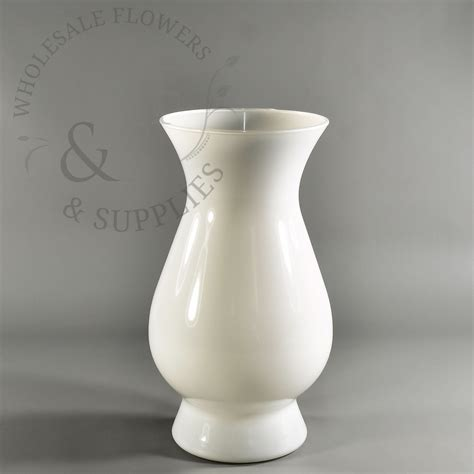 White Vase by 10 8 Quot White Glass Vase Wholesale Flowers And