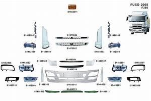 Canter Truck Head Lamp For Mitsubishi Mc139754 Mc139755