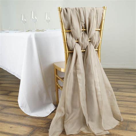 30 premium chiffon wide chair sashes banquet wedding