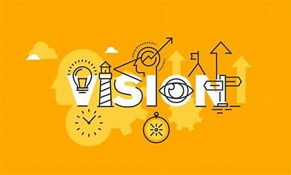 Vision Statement Company Line Banner Flat Vector