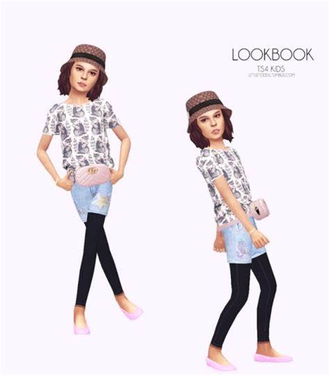 Littletodds Top By Simtographies Link Shorts By