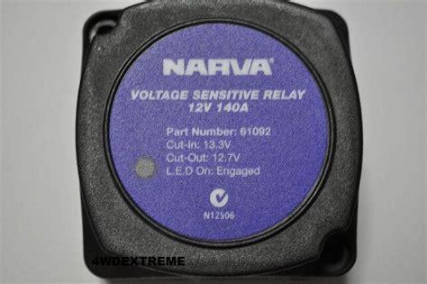 narva 12v 140 dual battery system voltage sensitive relay vsr 61092 61092bl ebay