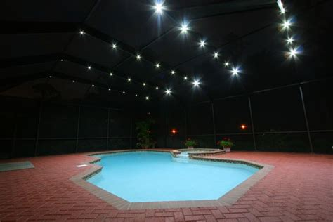 pool enclosure lighting 1000 images about nebula pool cage lighting on