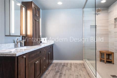 walk  shower bathroom remodeling austin vintage modern
