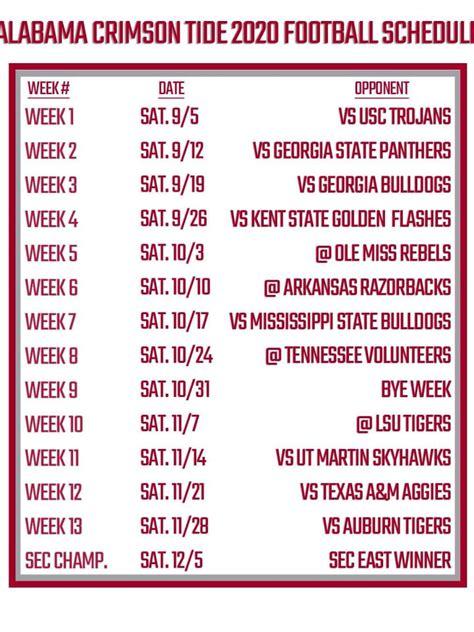printable alabama football schedule
