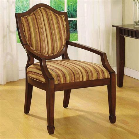 Fabric Armchair by Venetian Worldwide Bernetta Striped Fabric Arm Chair Cm