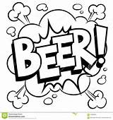 Beer Word Coloring Comic Vector Illustration sketch template