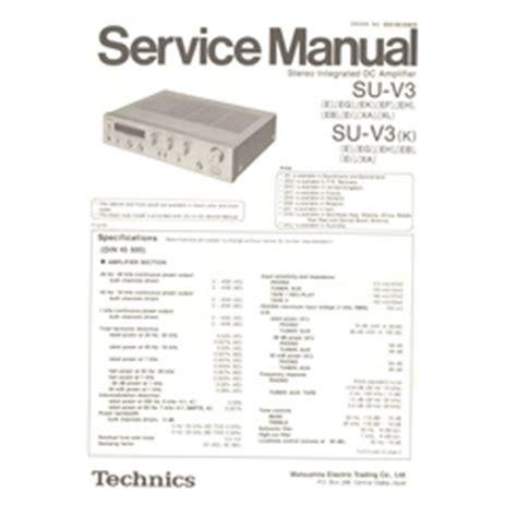 Visonik Wiring Diagram by Su V3 K Technics Service Manual Highqualitymanuals