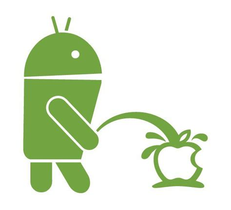 apple on android androidstickers android pissin on apple