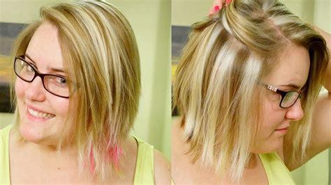 slice highlights chunky blond weave tutorial