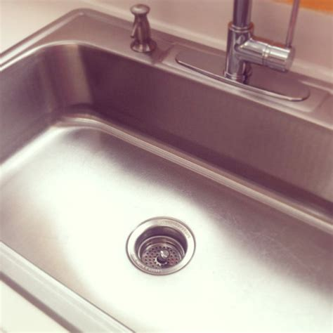 stainless steel kitchen sink cleaner how to clean your stainless steel sink popsugar 8263