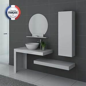 Abat Jour Salle De Bain : meuble de salle de bain blanc laqu monza meuble de salle de bain blanc laqu brillant ~ Melissatoandfro.com Idées de Décoration