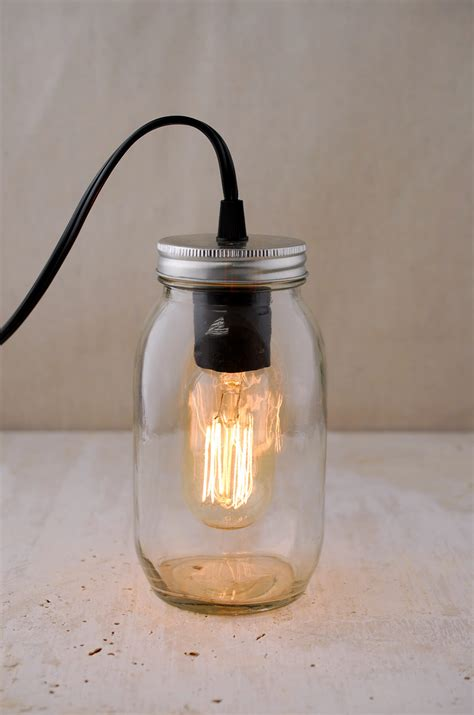 gerson electric lighted clear jar with antique light