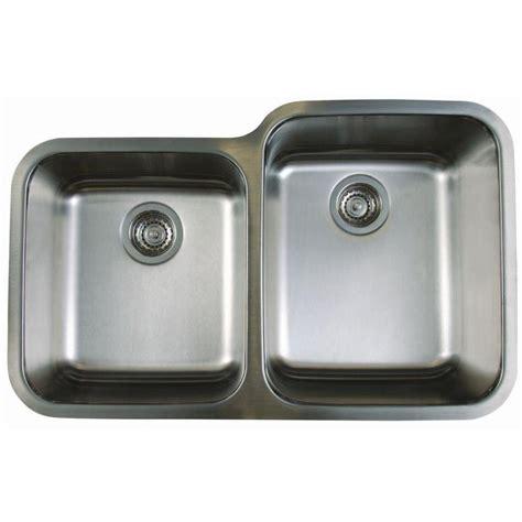 stainless steel undermount sink shop blanco stellar stainless steel double basin