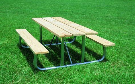 heavy duty aluminum picnic table pro playgrounds