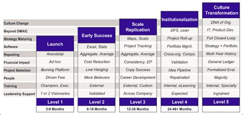 maturity model describes stages   sigma evolution