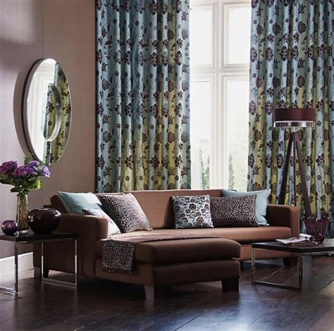 what colour curtains go with brown sofa and cream walls 53 living rooms with curtains and drapes eclectic variety