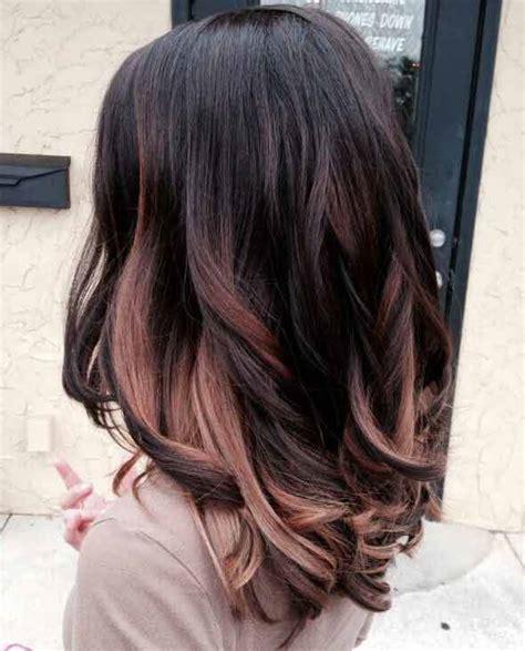 rose gold hair color dye formula  brunettes highlights