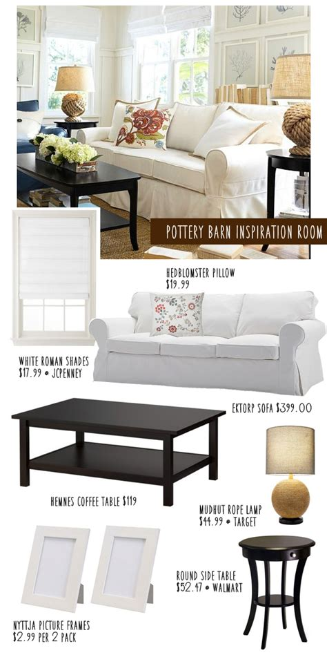 Pottery Barn On A Budget by Pottery Barn Living Room Knockoff On A Budget Money