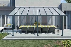Toit Terrasse Aluminium : pergola en aluminium et polycarbonate palram ~ Edinachiropracticcenter.com Idées de Décoration