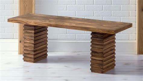 crate  barrel inspired modern wooden bench diy candy