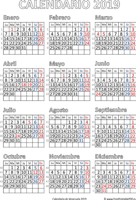 calendario de venezuela imprimir el gratis
