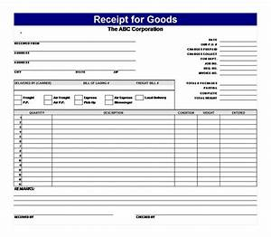 Printable Blank Invoice Template Receipt For Goods Receipt For Goods Template