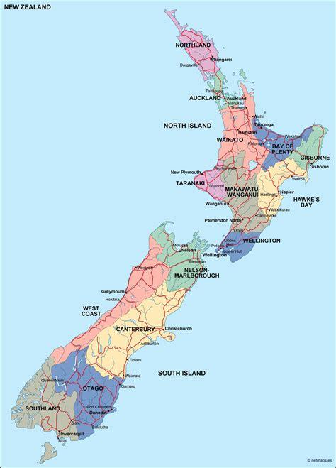 zealand political map order    zealand