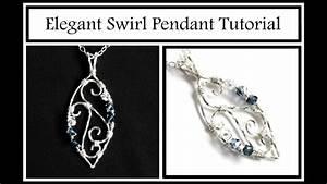 Jewelry Tutorial   Elegant Swirl Pendant Part 2