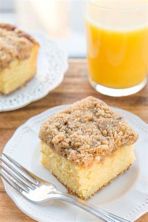 orange coffee cake  streusel topping