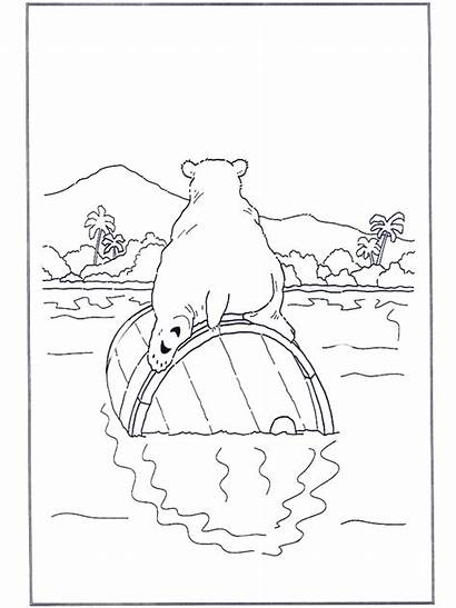 Polar Bear Barrel Malebog Coloring Advertisement Pages