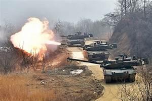 South Korean K2 Black Panther Main Battle Tanks In Action ...