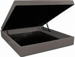 Lit Coffre 180x200 : sommier 180 x 200 ub design lit coffre l o 180x200 taupe ~ Melissatoandfro.com Idées de Décoration