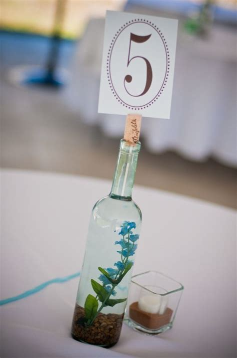 wine bottle centerpiece Weddingbee Photo Gallery