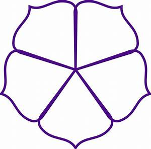 Purple Flower Outline Clip Art at Clker.com - vector clip ...
