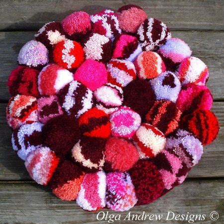 pompom rugchair seat cushion crochet pattern