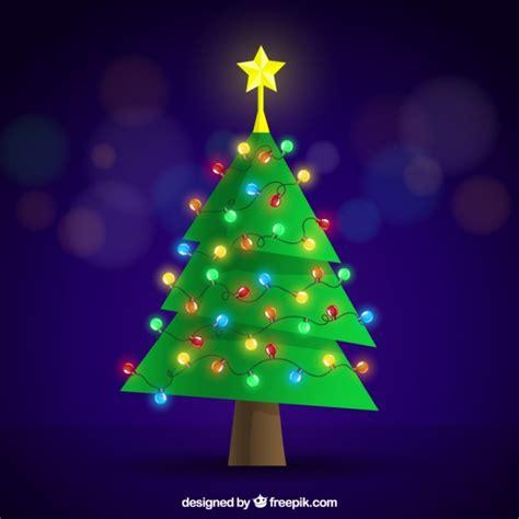 225 rbol de navidad plano con decoraci 243 n de luces de colores