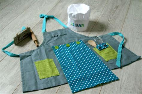 couture tablier de cuisine tablier et toque de cuisine pour enfant technique et